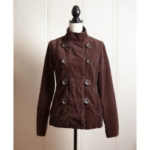 Brown Double Breasted Military Jacket